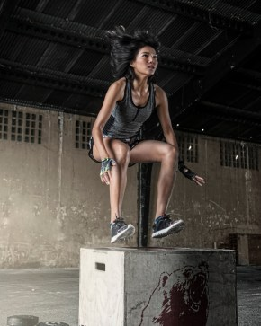 fit girl jumping